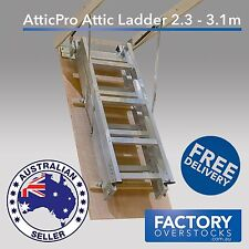 AtticPro High Quality Aluminium Folding Loft Attic Ladder size 2.3m-3.1m