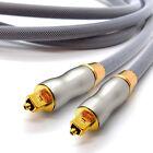 5m Optisches Kabel Digital Audio Toslink Spdif Surround Sound Platinum