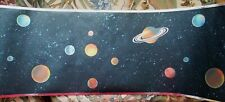 PLANETS & STARS IN DARK SPACE WITH METALIC LOOK EDGES WALLPAPER BORDER