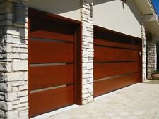 Genesis Design - [9' x 7'] Modern Style Custom Solid Cedar Wood Garage Door