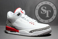 AIR JORDAN 3 RETRO 136064-116 KATRINA WHITE FIRE RED GREY DS SIZE: 10