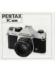 Pentax K1000 USER'S MANUAL
