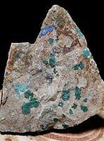 Natural Rough Malachite Chrysocolla Azurite Crystal in Rock Matrix Arizona USA!