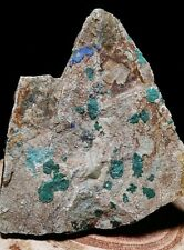 Natural Rough Malachite Chrysocolla Azurite Crystal in Rock Matrix Arizona USA!