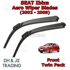 (02-08) Seat Ibiza Aero Wiper Blades / Front Windscreen Flat Blade Wipers MK3