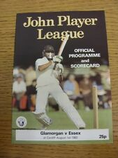 01/08/1982 Cricket Programme: Glamorgan v Essex  . Thanks for taking the time to