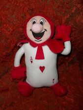 "Disney Store vintage rare Alice in Wonderland Ace of Heart soft toy 11"" approx"