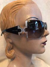 Bvlgari Black Rhinestone Sunglasses MODEL 651-B 939/86 #2