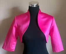 Pink Satin Bolero/Shrug/Jacket/Stole/Shawl/Wrap/Tippet 3/4 Sleeve Lined New