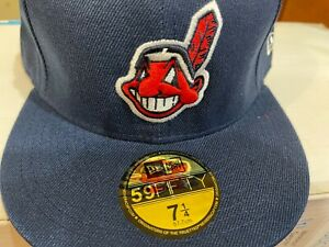 Cleveland Indians Chief Wahoo New Era Authentic Collection Fitted Hat Cap 7 1/4