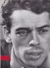 PHOTOGRAPHIE ORIGINALE du chanteur Jacques Brel disques Philips encart