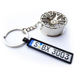 Kennzeichen Schlüsselanhänger Autokennzeichen Geschenk Felge Tuning KFZ Auto