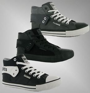 Mens British Knights Roco Fold PU Hi Top Skate Shoes Trainers Sizes UK 7-13