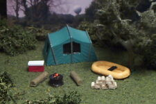 Camp site TENT boat COOLER firewood more N Scale G/Y
