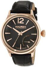 NEW Haurex Italy Men's 6R341UGH Grand Class Quartz Gold IP Case Day Watch