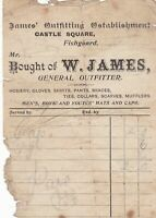 W. James Castle Square Fishguard General Outfitter Paid Invoice Ref 41615