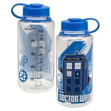 Doctor Who Name and Tardis Logo 32 oz Clear Tritan Sport Bottle, NEW UNUSED