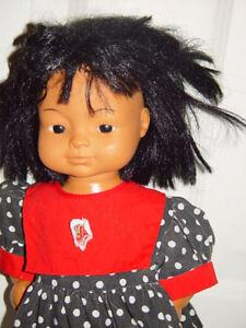 Baby Doll Dark Skin Black Hair Black Polka Dot Dress