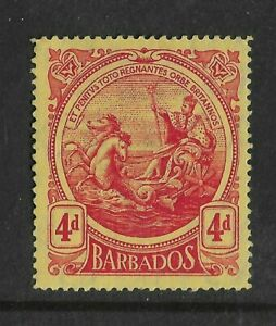 Old Barbados 4d Mint Issue