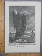 Rare Antique Orig VTG La Belgique 1914 Bernard Partridge Illustration Art Print