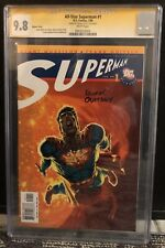 ALL STAR SUPERMAN #1 CGC SS 9.8 SIGNED BY FRANK QUITELY ~ NEAL ADAMS VARIANT CVR