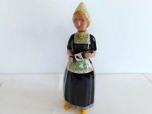 VTG Gouda Pottery Bols Woman Decanter Figurine