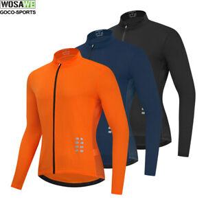 Mens Long Sleeve Cycling Jersey Road Bike MTB Bicycle Clothing Breathable Shirt