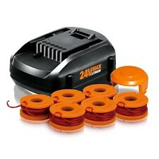 WORX 24V MaxLithium Tune Up Kit (1) Lithium Battery (1) 6pk Spools (1) Cap Cover