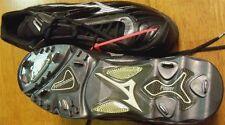 Baseball Cleats Black Leather Mizuno Chipper 9 Spike G3 Hybrid Men size 14M New
