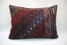 "Kilim Lumbar Pillow, 20""x28"", Decorative Throw Pillow, Handmade Vintage Pillow"