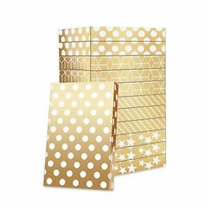 Gift Boxes for clothes 14.5x9.5x2 Inches, Shirt Gift Boxes, Large gift Gold