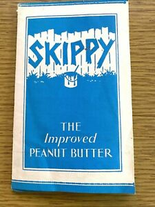 1940s SKIPPY PEANUT BUTTER vintage advertising brochure - MANY DELICIOUS RECIPES