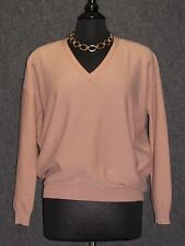 BRUNELLO CUCINELLI Pale Pink Cashmere Shimmer Long Sleeve Sweater SZ L NEW
