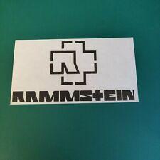 Rammstein Text Logo Vinyl Decal Sticker
