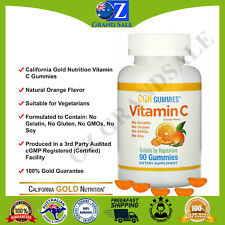 California Gold Nutrition Vitamin C Gummies Natural Orange Flavor 90 Gummies