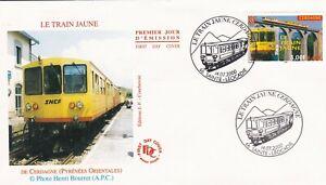 FRANCE 2000 FDC LE TRAIN JAUNE YT 3338