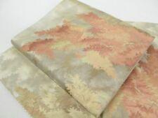 Japanese Kimono SILK FUKURO OBI FLOWER LEAF (4403-1301)