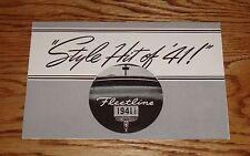 1941 Chevrolet Fleetline Foldout Sales Brochure 41 Chevy