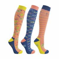 HyFASHION Llama Socks Bamboo AntiBacterial Long Riding Socks Pack of 3 Adult 4-8