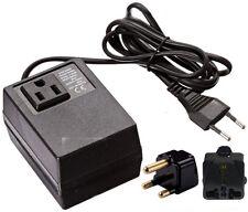 200 Watt Compact Voltage Converter Transformer + South Africa Plug -220v to 110v