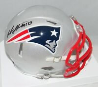 JOSH GORDON AUTOGRAPHED SIGNED NEW ENGLAND PATRIOTS SPEED MINI HELMET JSA