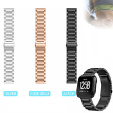 Stainless Steel Metal Watch Band Wristband Bracelet Strap For Fitbit Versa