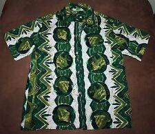 VINTAGE MALIHINI HAWAIIAN HAWAII SHIRT EMERALD GREEN