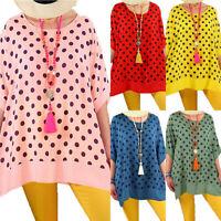 Summer Women Batwing Sleeve Polka Dot Tops Shirt Ladies Casual Blouse Plus Size