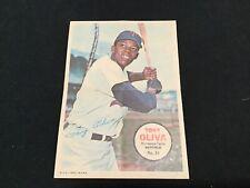 1967 Topps Baseball Card Poster Insert 5x7  #18 Tony Oliva Minnesota Twins
