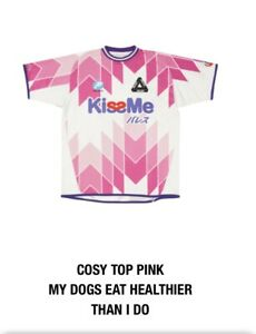 PALACE SKATEBOARDS COSY TOP JERSEY PINK SIZE LARGE L SUMMER 2021