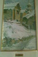 Dino Asnaghi dipinto originale olio su tela 17,5X50 cm  da museo