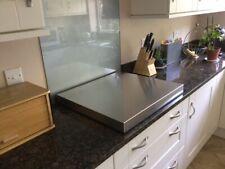 kitchen hob cover splash back worktop space saver super 5 burner full trim