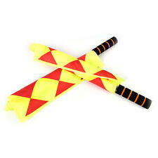 Soccer Referee Flag Fair Play Sports Match Linesman Flags Referee+Carry Bag QY