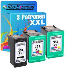 Set 3 CARTUCCE ecoserie per 1x HP 350 XL & 2x HP 351 XL PHOTOSMART c5280